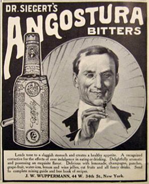 Amargo de Agostura Anuncio Antiguo