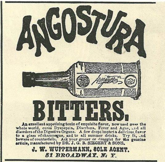 Amargo de Agostura Publicidad Antigua